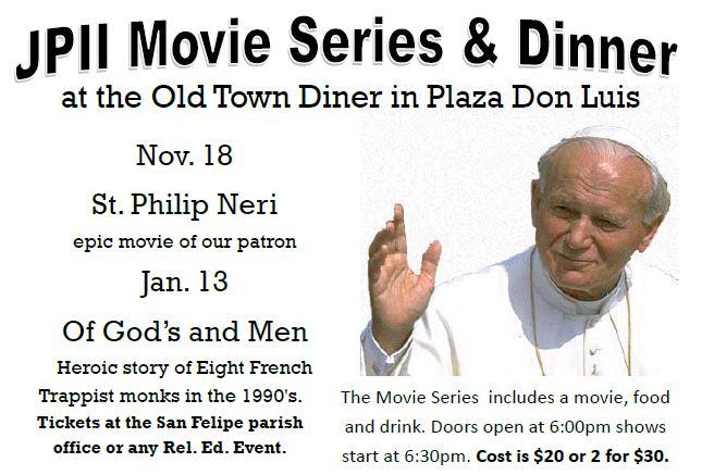 JPII Dinner Theatre Series at Old Town Diner
