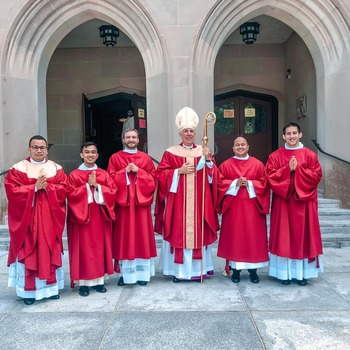 Four men on road to priesthood ordained deacons