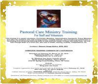 Pastoral Care Ministry Training