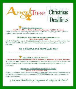 Angel Tree Deadlines Image