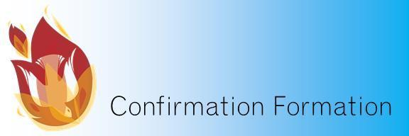 Confirmation Formation Title Graphic in English