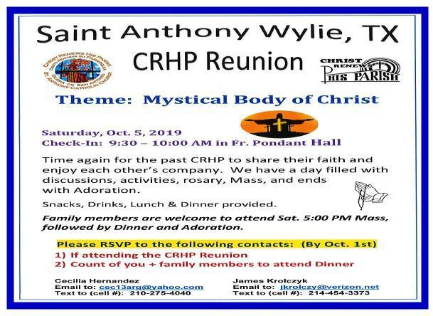 CRHP Reunion Image