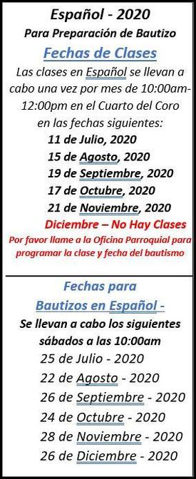 Spanish Baptisms from July to Dec 2020 Image