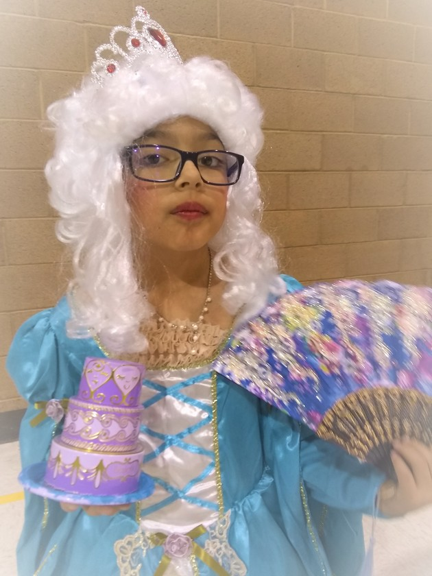 Marie Antoinette at the 3rd Grade Wax Museum