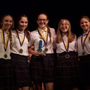 8th Grade Girls Take First Place at Sciathlon