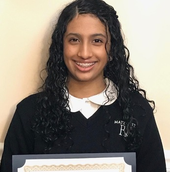7th Grader Wins Writing Award.