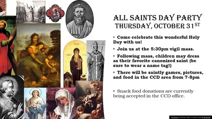 All Saints Day Party