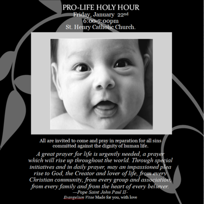 PRO-LIFE HOLY HOUR