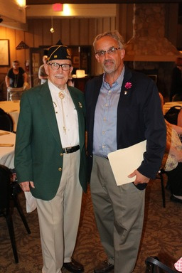 George Luz, Jr. with WWII vet Harold Lanning
