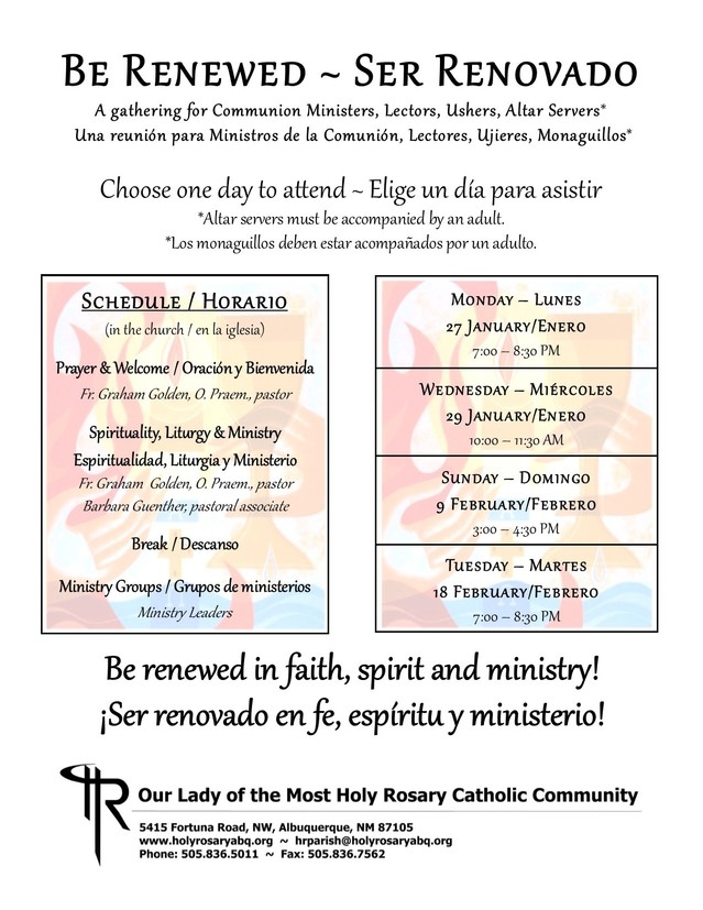 2020 Ministry Renewal