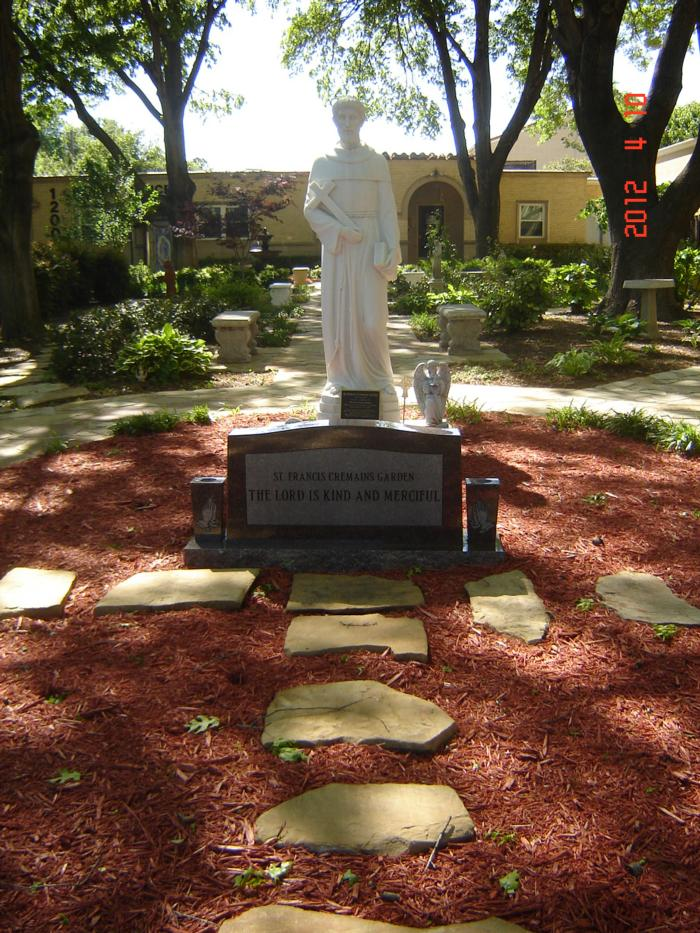 St. Francis Cremains Garden receives a beautiful Gravestone!