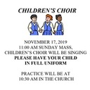Children's Choir Sunday Mass