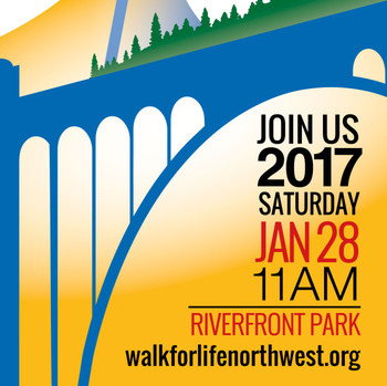 Walk for Life Northwest, Mass begins at 9:30a.m. Walk begins at 11:00a.m.