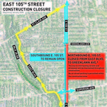 Road Construction on East 105 St in Glenville