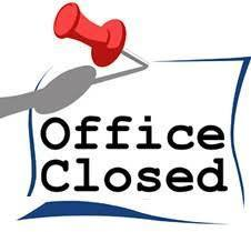 Parish Office Closed: Jan. 16