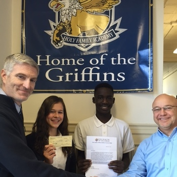 Knights of Columbus give a generous donation to HFA!