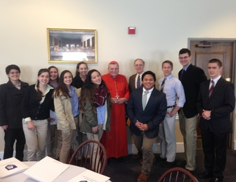 Students Meet Cardinal Burke at NCC
