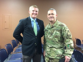 SFC Courser of the Army National Guard Visits HFA