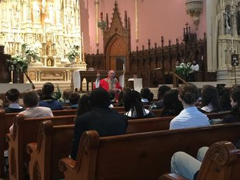 Bishop Christian Celebrates Mass with Students