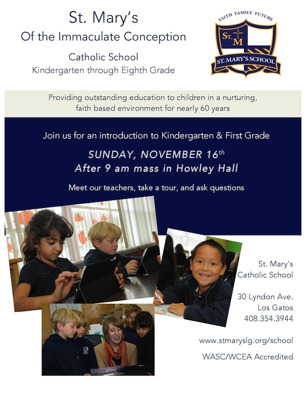Open House for St. Mary's School in Los Gatos