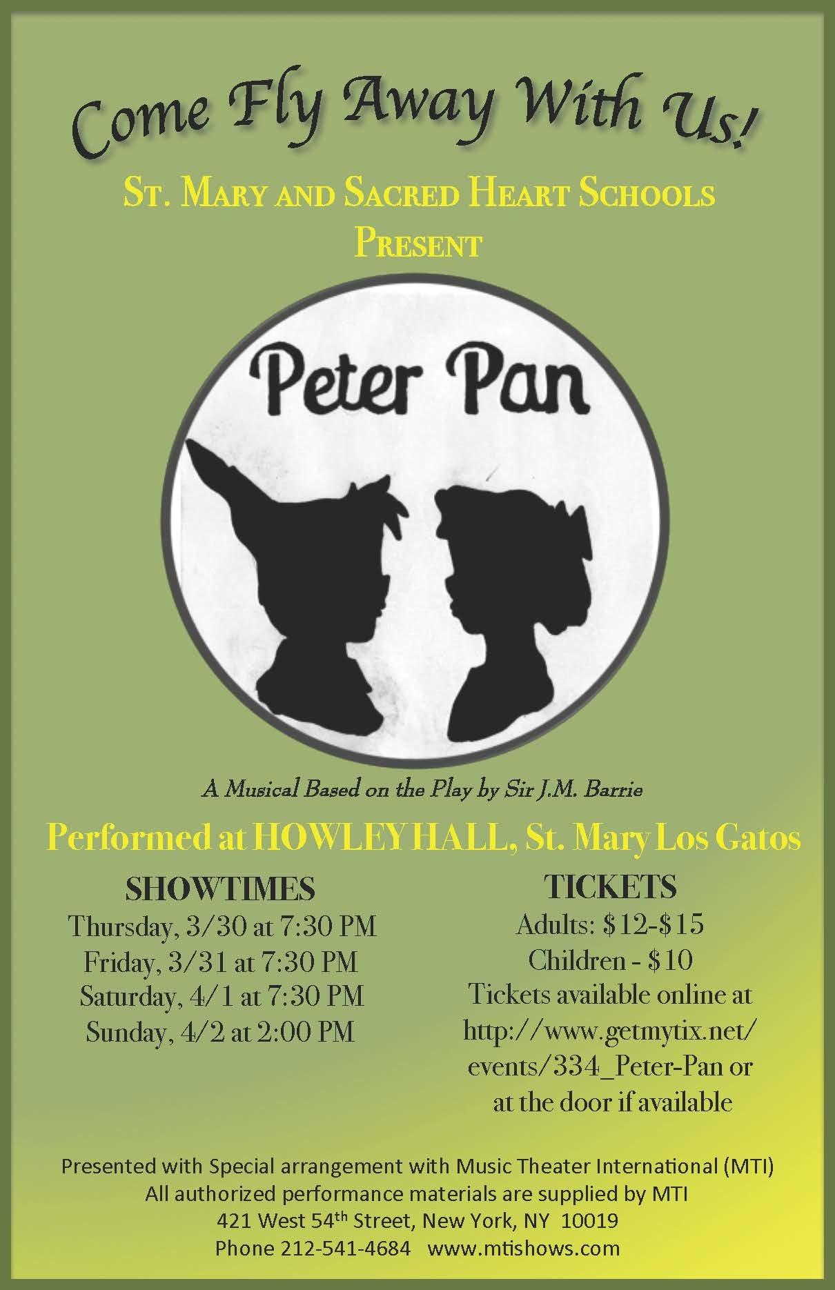 St. Mary and Sacred Heart School present  Peter Pan