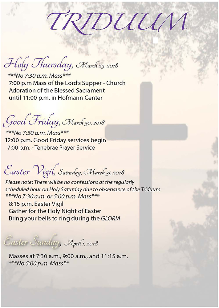 Holy Week at St. Mary of the Immaculate Conception in Los Gatos