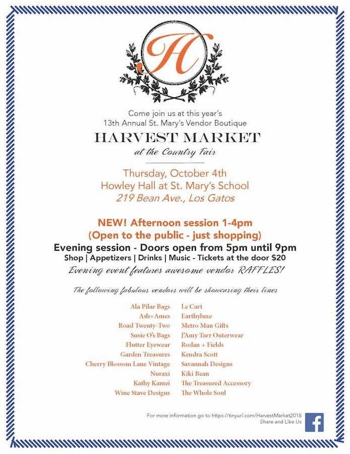 Harvest Market at the Country Fair - Thursday, October 4th