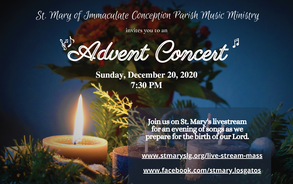 Advent Concert - New Time 915 pm
