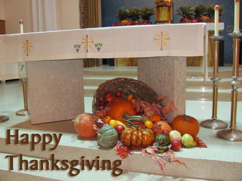 Happy Thanksgiving from the staff at St. Mary's