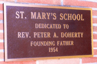 St. Mary's School dedicated to Fr. Peter Doherty