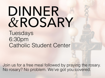Dinner and Rosary