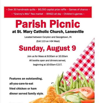 ST. MARY PARISH PICNIC AUGUST 9, 2015