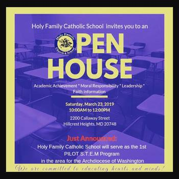 Holy Family School Open House