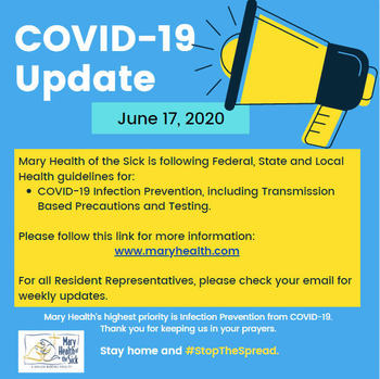 COVID-19 Facility and Resident Update June 17