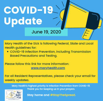 COVID-19 Facility and Resident Update June 19