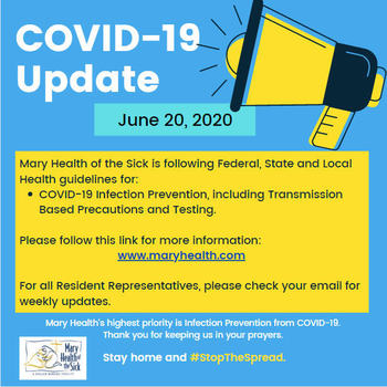 COVID-19 Facility and Resident Update June 20