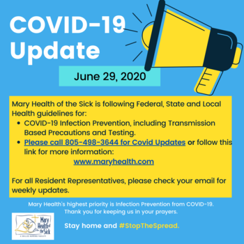 COVID-19 Facility and Resident Update June 29
