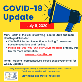COVID-19 Facility and Resident Update July 6