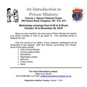 PRISON MINISTRY - INTRODUCTION TO