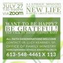 New Life Group Meeting (Zoom): Want to Be Happy? Be Grateful! TED Talk
