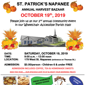 Annual Harvest St. Patrick's Parish Bazaar, Napanee