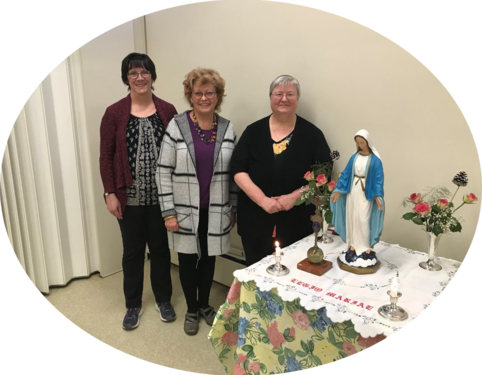 Incoming Executive: 1 April 2019 Pres: Cheryl Power. VP: Lucienne Coppens. Sec: Jean Mulvihil.