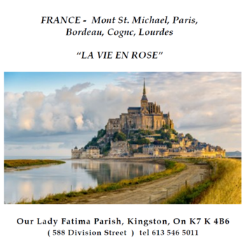 France with Our Lady of Fatima Parish, Kingston