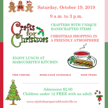 23rd ANNUAL ST. JOHN BOSCO CRAFT SHOW