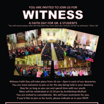 Witness Faith Day for Grade 6 Students