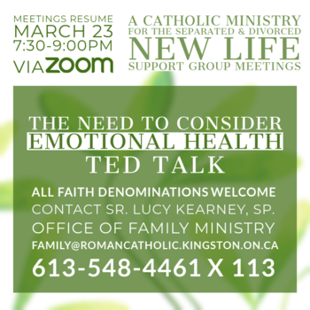 New Life Group Meeting (Zoom): The Need to Consider Emotional Health (TED Talk)