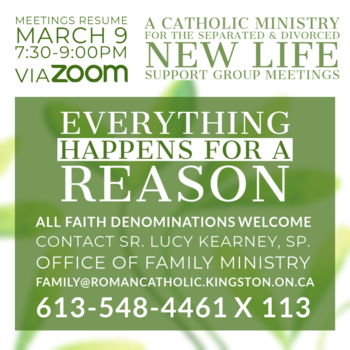 New Life Group Meeting (Zoom): Everything Happens for a Reason