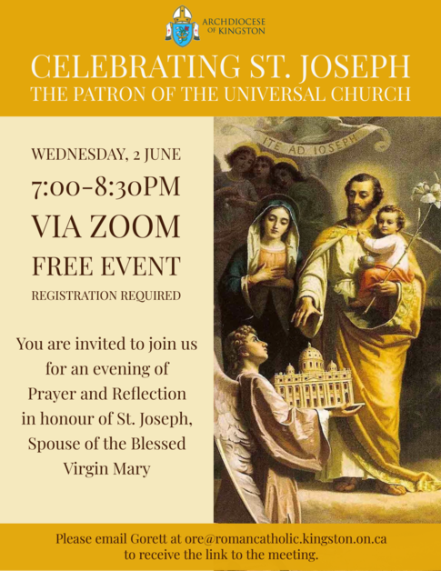 Celebrating St. Joseph Zoom Reflection: Click for Event information