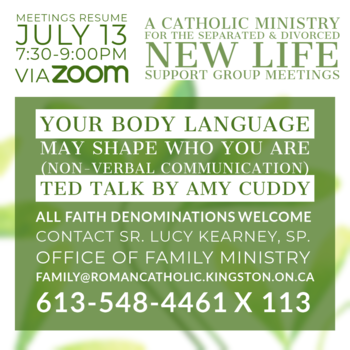 New Life Group Meeting (Zoom):  Non Verbal Communication TED Talk