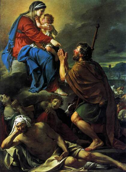 St. Roch Praying To The Virgin For An End To The Plague